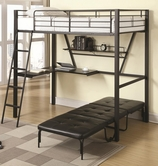 Coaster 460198-99 Bunks Twin Workstation Loft Bed and Convertible Chair