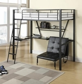 Coaster 460198 TWIN WORKSTATION BED (SANDY BLACK)