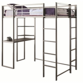 Coaster 460230 TWIN WORKSTATION BED (GUNMETAL/SILVER GREY)