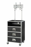 Coaster 460296 3 DRAWER MEDIA CHEST w/ TV MOUNT (METAL/BLACK)