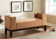 Coaster 500993 BENCH (BURNT ORANGE GEOMETRIC PATTERN)