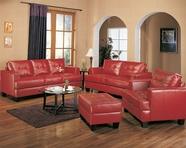Coaster 501831 Red Leather Sofa Set