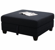 Coaster 503453 STORAGE OTTOMAN (MIDNIGHT BLUE/BLACK)