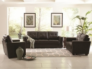 Coaster 503701-02 Enright Black Sofa with Loveseat