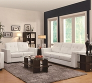 Coaster 503707-08 Enright White Sofa with Loveseat