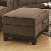 Coaster 503734 STORAGE OTTOMAN (CHOCOLATE)