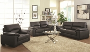 Coaster 503861-62-63 Juniper Black Sofa-Loveseat-Chair Set