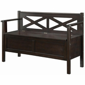 Coaster 508006 STORAGE BENCH (DARK WALNUT)