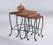 Coaster 5423 NESTING TABLES (RUSTIC OAK)