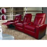 Coaster 600132ER-LR-XRR Pavillion Contemporary Leather Theater Seating