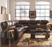 Coaster 600352L-52S-52W LEATHER RECLING SOFA SET (DARK BROWN)