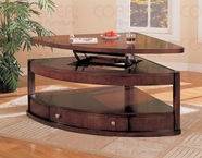 Coaster 700246 PIE SHAPE COFFEE TABLE