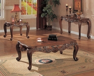 Coaster 700467-68-69 Deep Brown Shell and Leaf Occasional Tables