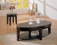 Coaster 700597-98 Oval Contemporary Cocktail Table and end table