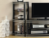 Coaster 700723 MEDIA TOWER (BLACK/SILVER)