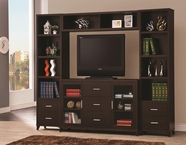 Coaster 700881-2X82-83 Wall Units Cappuccino Entertainment Wall Unit