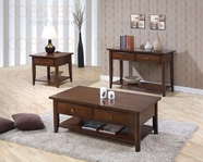 Coaster 700957-58-59 Walnut Occasional Tables