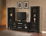 Coaster 702250-2X52 Wall Units Black Entertainment Wall Unit