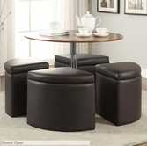 Coaster 703240 5PC COFFEE/OTTOMANS SET