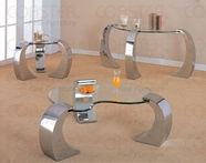 Coaster 720057-58-59 Bevelled Kidney Occasional Tables