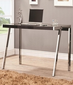 Coaster 800105 COMPUTER DESK (BLACK/NICKEL)