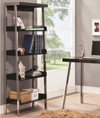 Coaster 800155 BOOKCASE (BLACK/NICKEL)