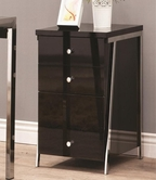 Coaster 800156 CABINET (BLACK/NICKEL)