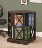 Coaster 800348 SWIVEL BOOKCASE (CAPPUCCINO)