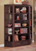Coaster 800375-76 Cherry Bookcase and Corner