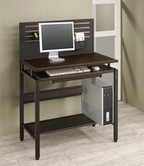 Coaster 800588 COMPUTER DESK (BLACK/BROWN)