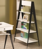 Coaster 801063 BOOKCASE (WHITE/BLACK)