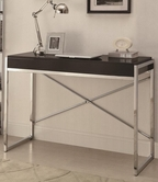 Coaster 801110 DESK (BLACK/CHROME)
