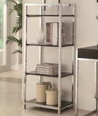 Coaster 801113 Bookcase (Black/Chrome)
