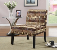 Coaster 900185 Square Spiral Pattern Fabric Accent Chair
