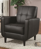 Coaster 900204 ACCENT CHAIR (BLACK)