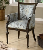 Coaster 900220 ACCENT CHAIR (BLUE FLORAL PATTERN)