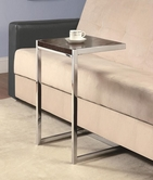 Coaster 900277 SNACK TABLE (CAPPUCCINO/CHROME)