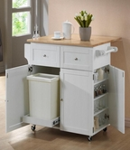 Coaster 900558 KITCHEN CART (WHITE/NATURAL)