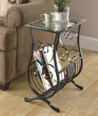 Coaster 900980 MAGAZINE TABLE (GUNMETAL)