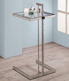 Coaster 900998 ADJUSTABLE SNACK TABLE (CHROME)