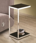Coaster 901006 SNACK TABLE (CHROME/BLACK/WHITE)