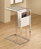 Coaster 901013 SNACK TABLE (WHITE/CHROME)