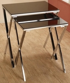 Coaster 901035 NESTING TABLE (BLACK/CHROME)