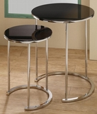 Coaster 901036 NESTING TABLE (BLACK/CHROME)