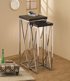 Coaster 901041 NESTING TABLE (BLACK/CHROME)