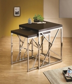 Coaster 901043 NESTING TABLE (BLACK/CHROME)
