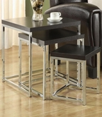 Coaster 901063 NESTING TABLES (CAPPUCCINO/CHROME)