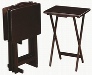 Coaster 901081 5PC TRAY TABLE SET (CAPPUCCINO)
