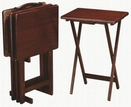 Coaster 901082 5PC TRAY TABLE SET (MERLOT)