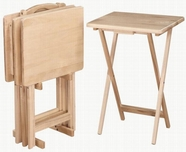 Coaster 901083 5PC TRAY TABLE SET (NATURAL)